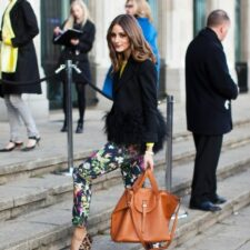 Style Snatchin: Olivia Palermo's Mixed Print Look