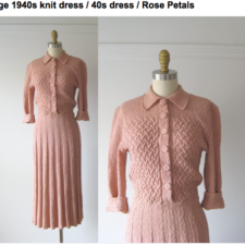 Monday Vintage Obsession: The Knitted Dress