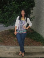 Shell: ASOS // Jacket: Lila Boutique in Atlanta // Jeans: Old Navy // Shoes: Zara