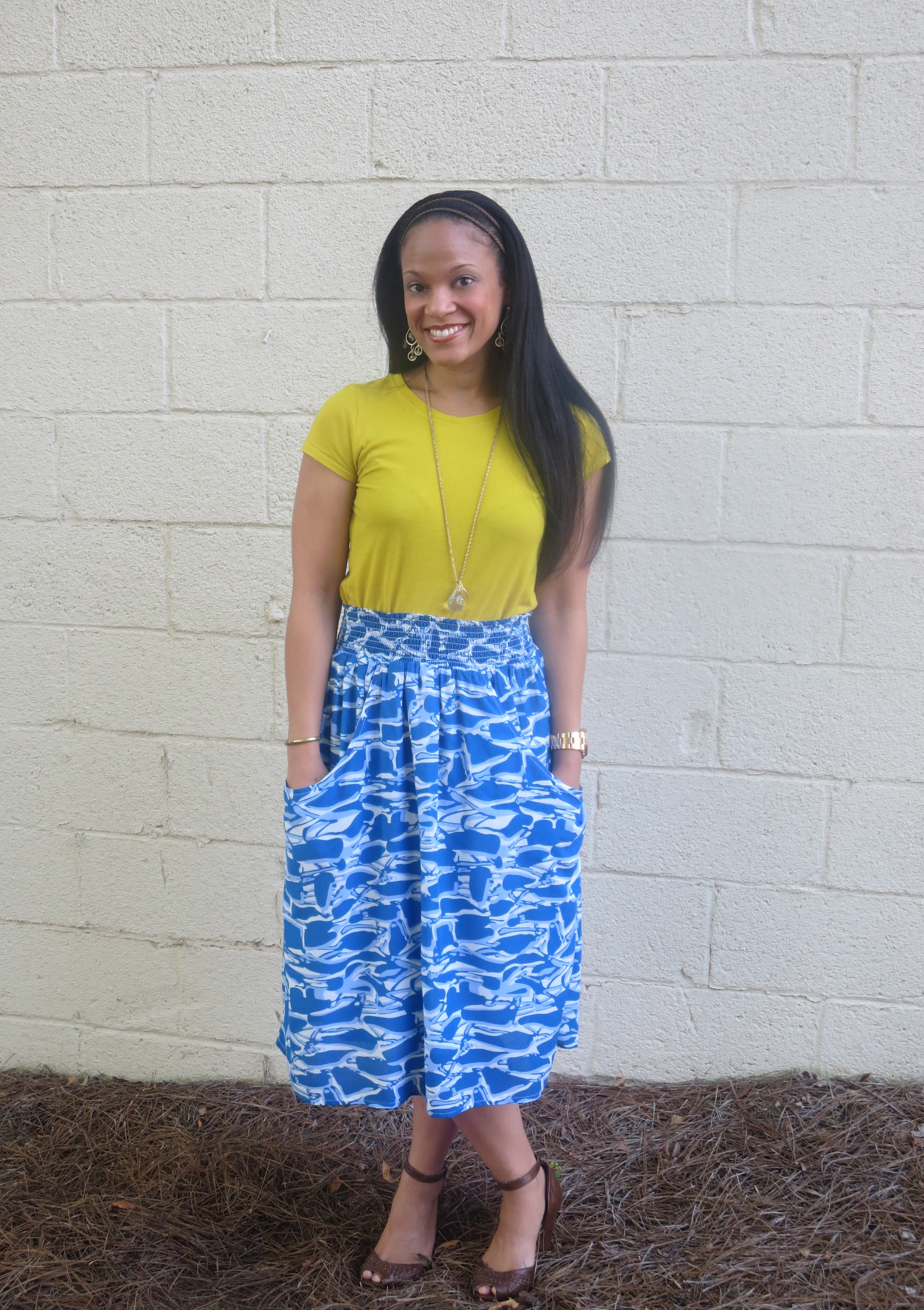 Thursday's Fit: Top: Anthropologie // Skirt: Anthropologie // Shoes: Charlotte Russe (real old)