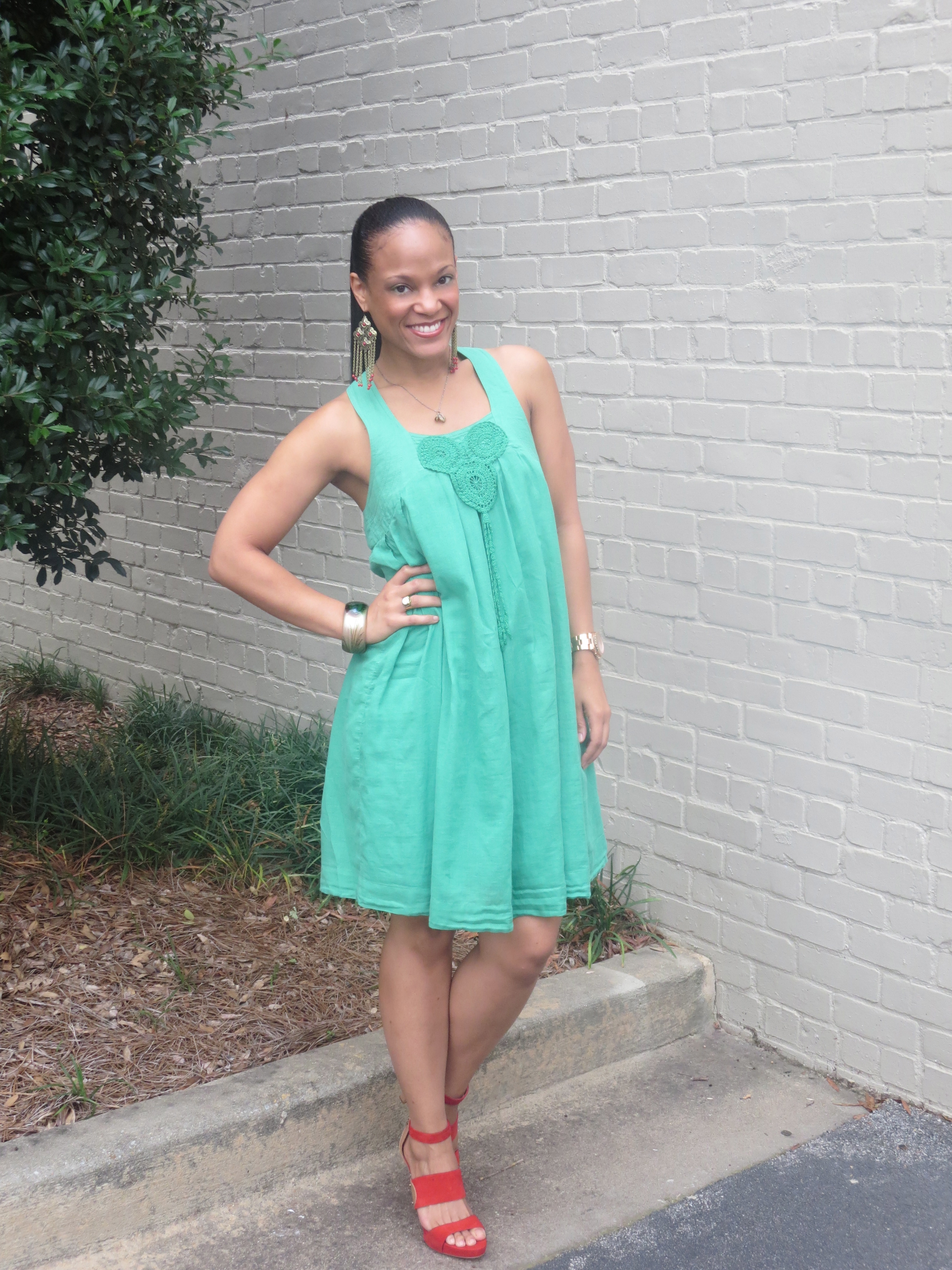 Friday's Fit: Dress: Zara // from Zara in Miami, Shoes: Dolce Vita // got them on Amazon