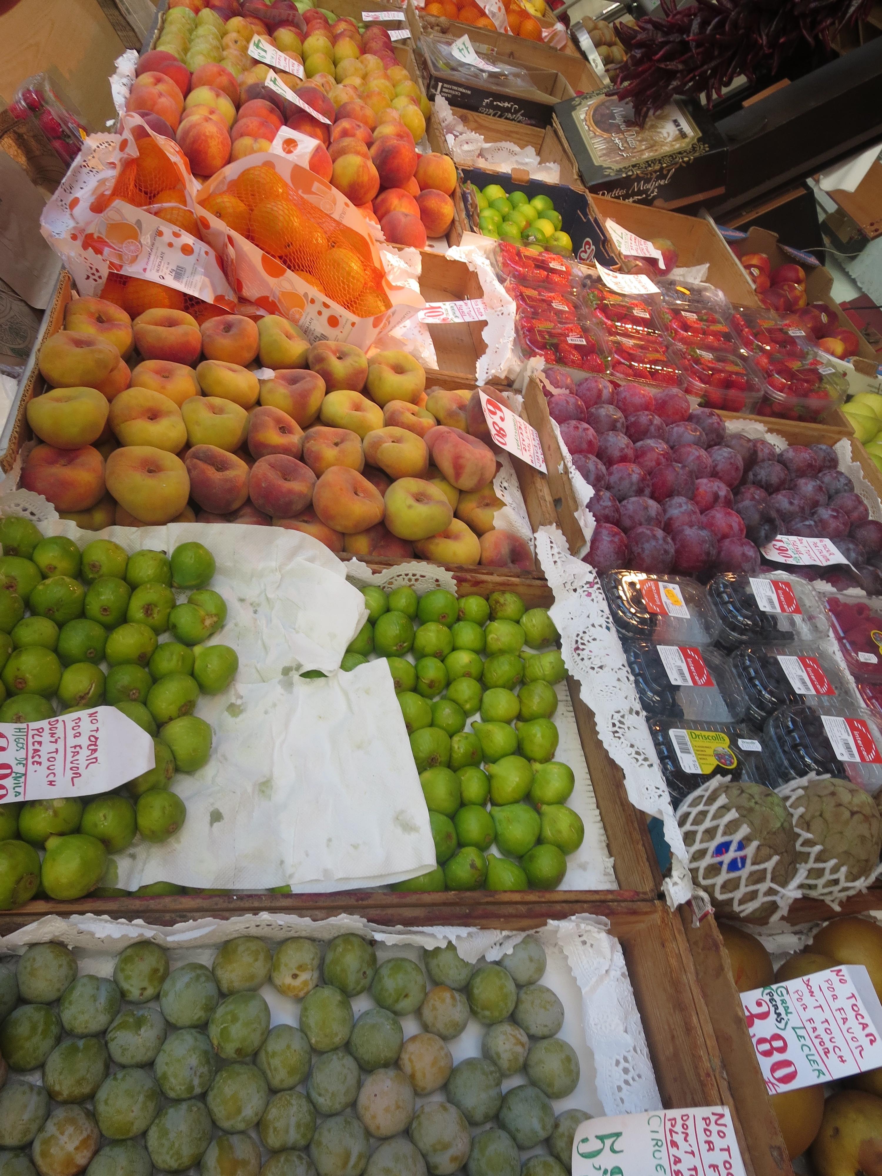 Fresh, exotic fruits