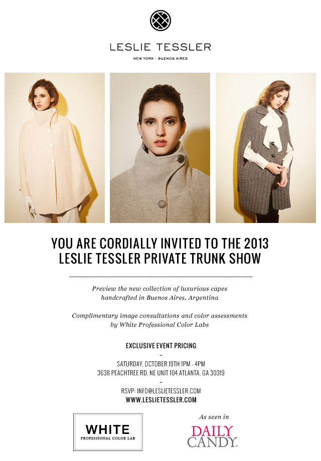 LT Atlanta Trunk Show Invite