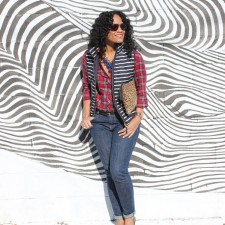 Print Mixing: Featuring The J. Crew Excursion Quilted Vest in Stripe