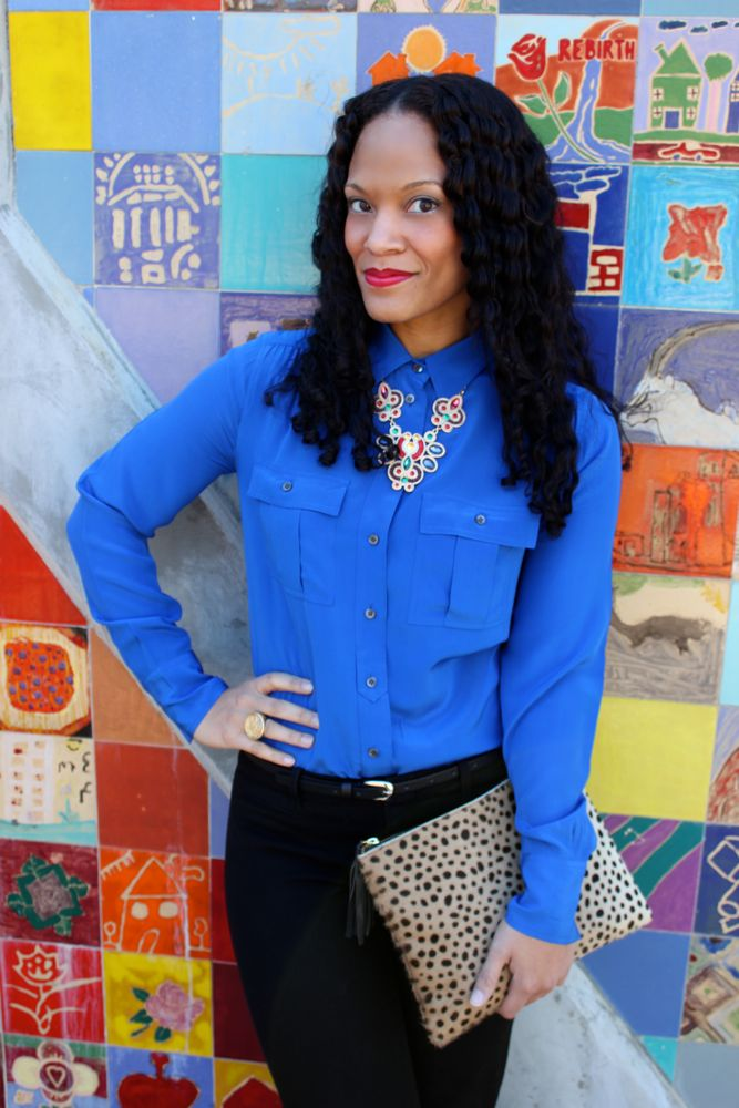 Cobalt Blue Blouse_7