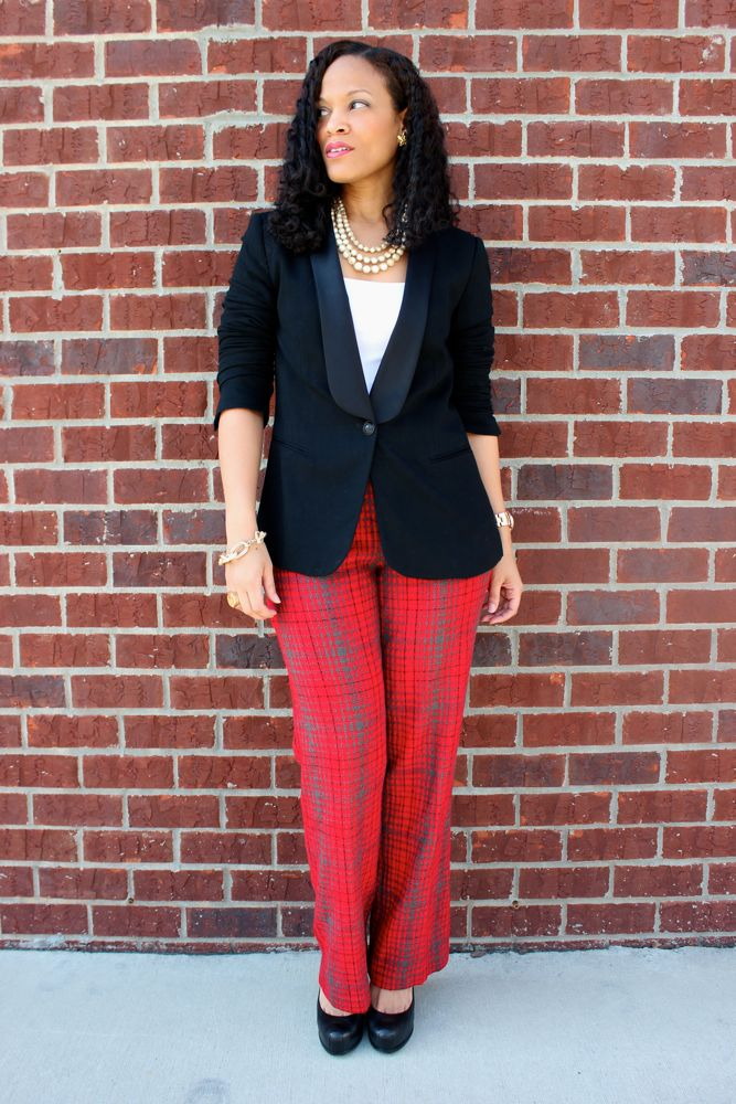 BCBG Plaid Pants_3