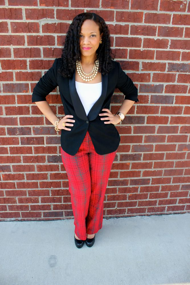 BCBG Plaid Pants_2