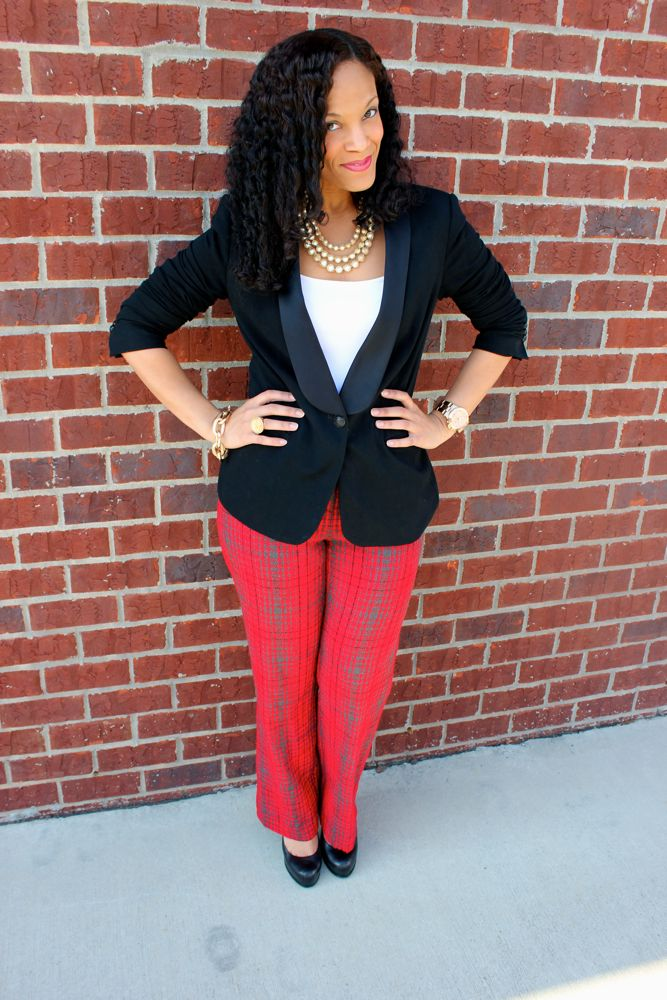 BCBG Plaid Pants_5