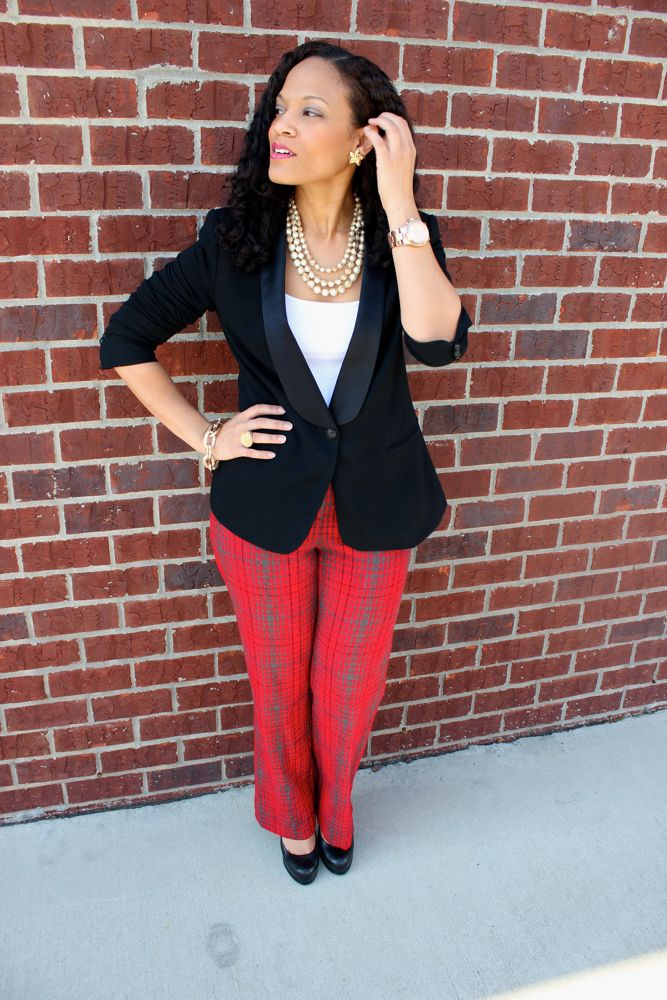 BCBG Plaid Pants_6