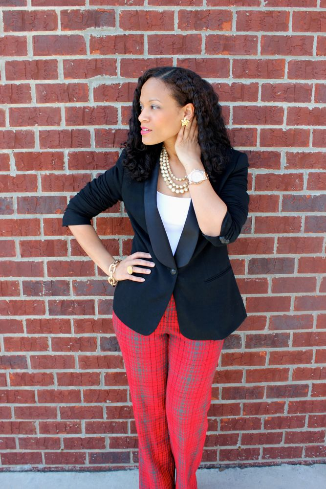 BCBG Plaid Pants_7