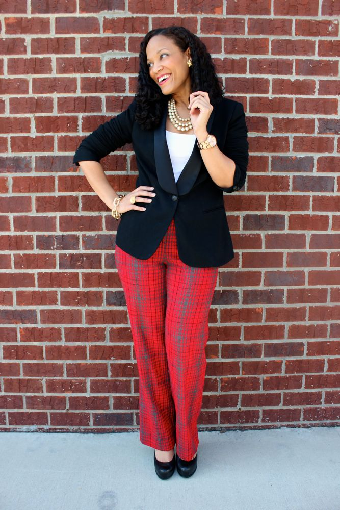 BCBG Plaid Pants_8