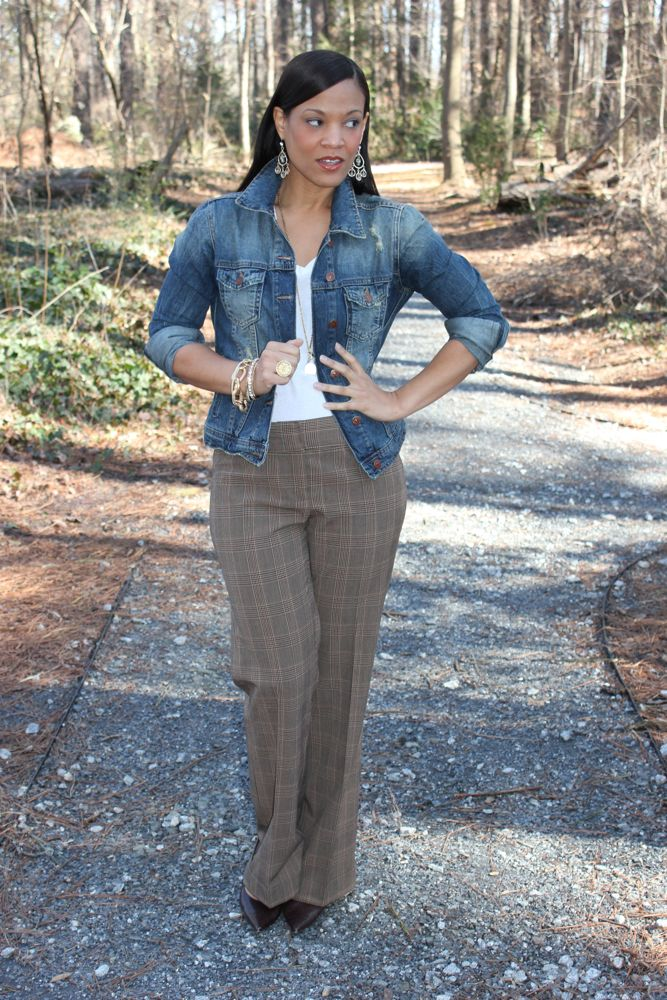Thrifted Fashion Finds Plaid Pants 2