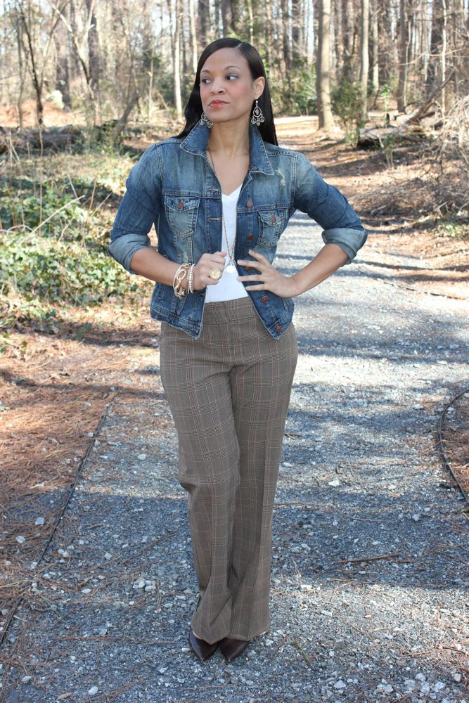 Thrifted Fashion Finds Plaid Pants 3