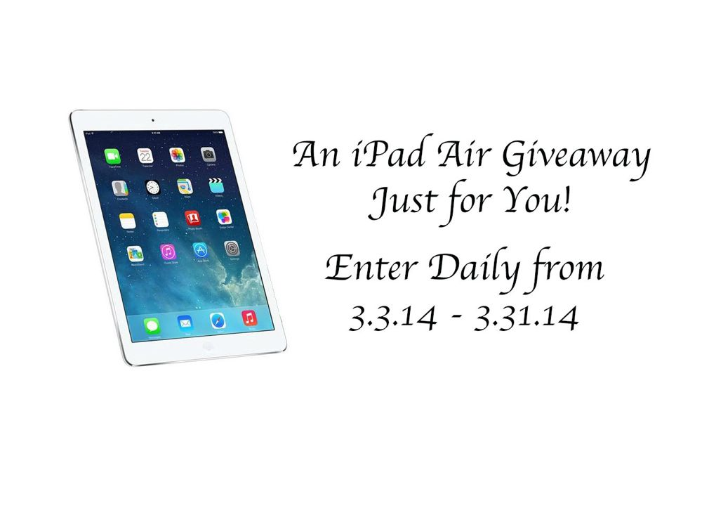 An iPad Air Giveaway Just for You!