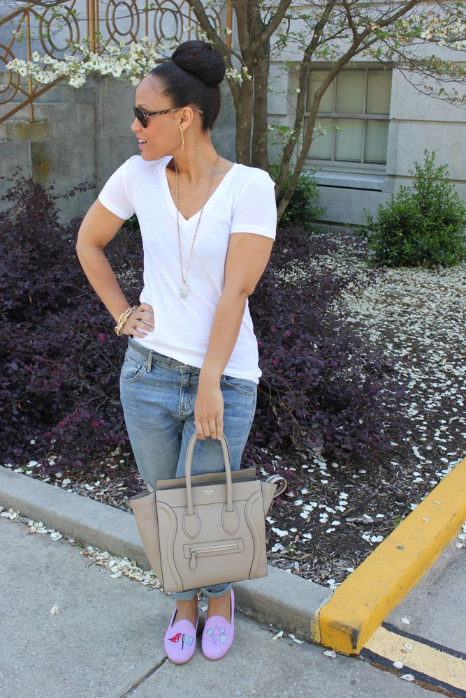 White Tee with Boyfriend Jeans 8