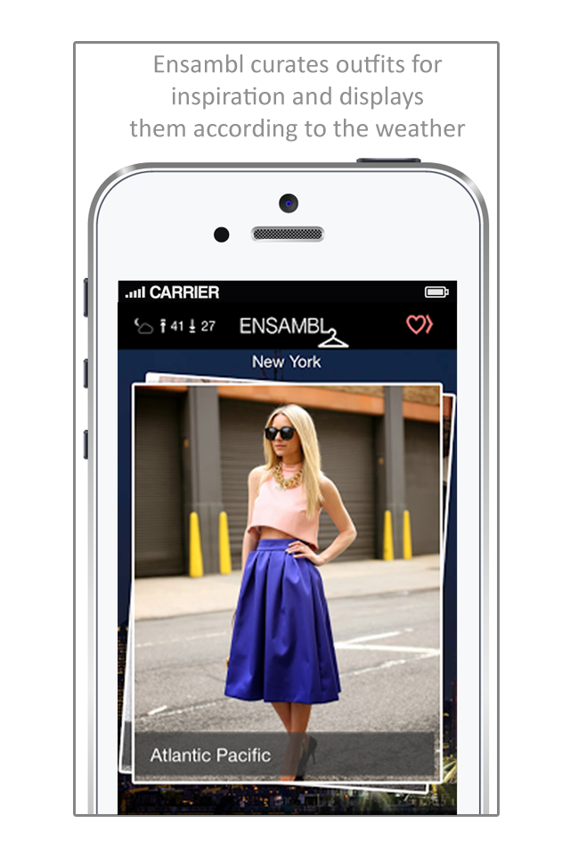 Ensambl App – Weather Based Style Inspiration
