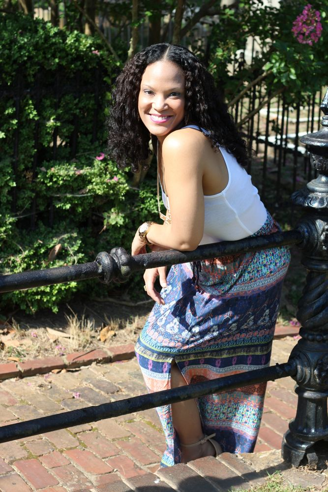 Printed Maxi Skirt 3