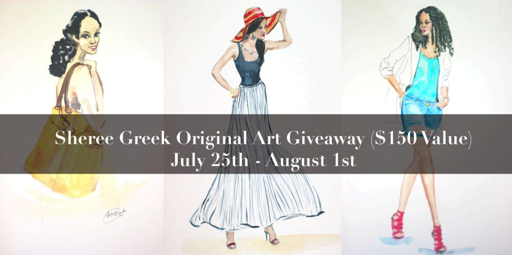 $150 Sheree Greek Original Art Giveaway!