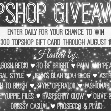 $300 Topshop Gift Card Giveaway *Closed*