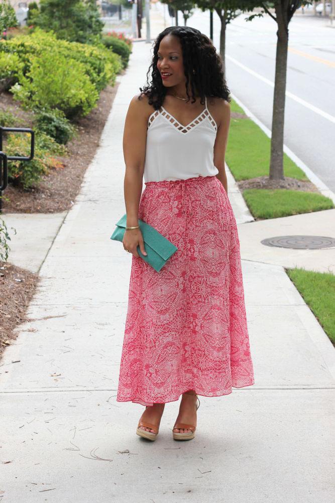 Printed Maxi Skirts 2
