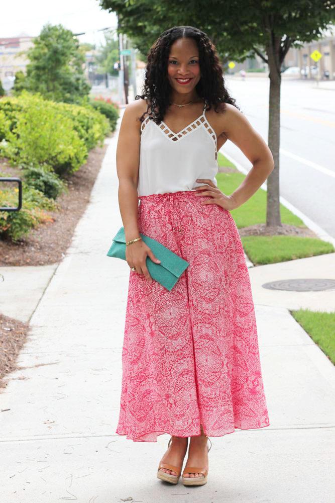 Printed Maxi Skirts 1