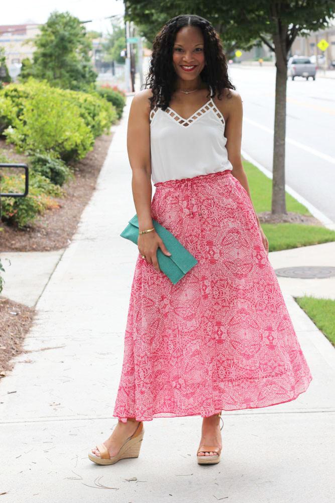 Printed Maxi Skirts 3