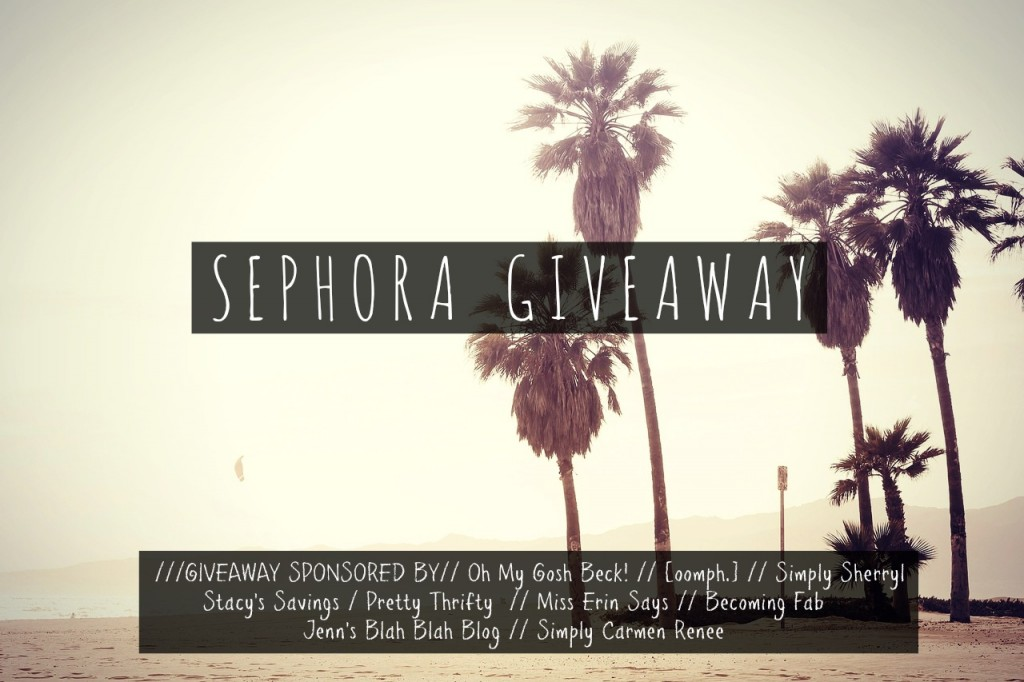$300 Sephora Gift Card Giveaway