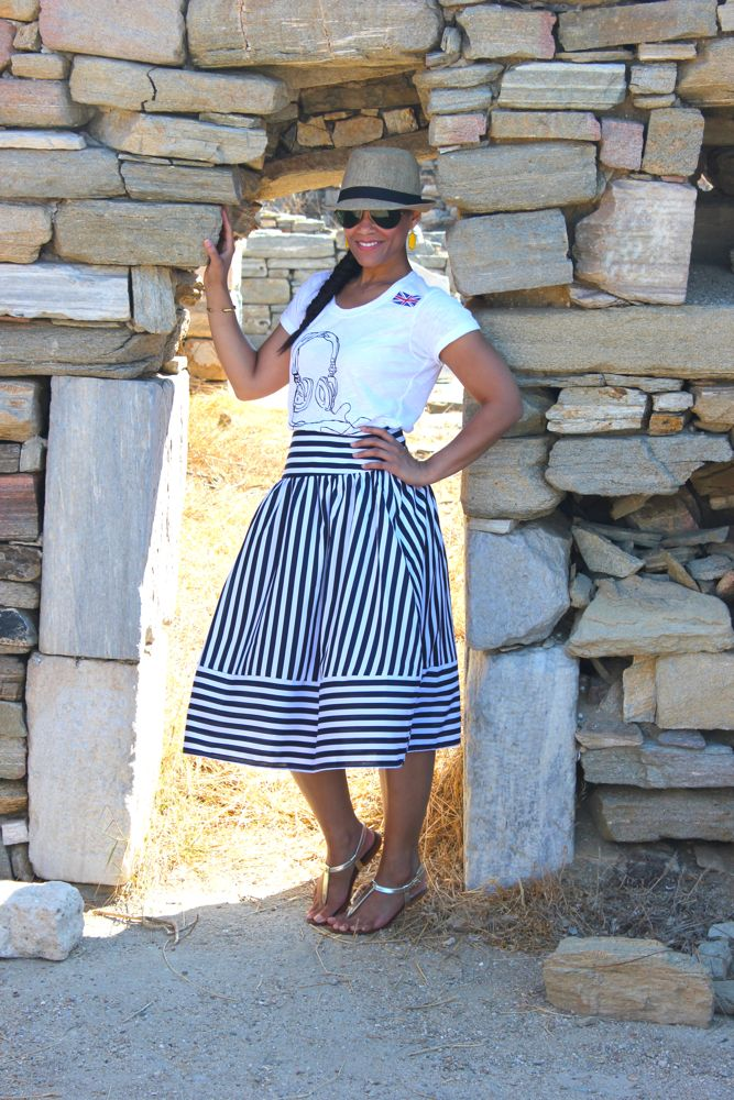 Nautical Midi Skirt 2