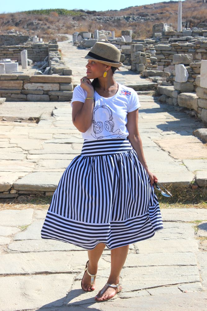 Nautical Midi Skirt 3