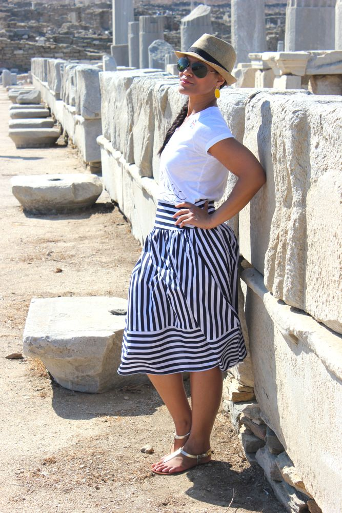 Nautical Midi Skirt 4