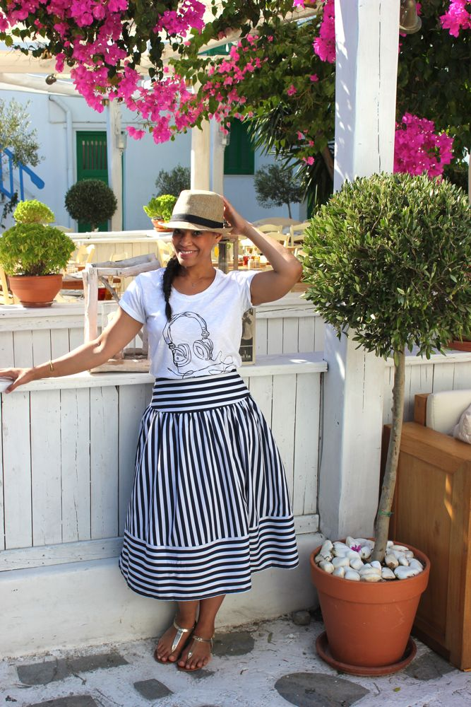 Nautical Midi Skirt 6