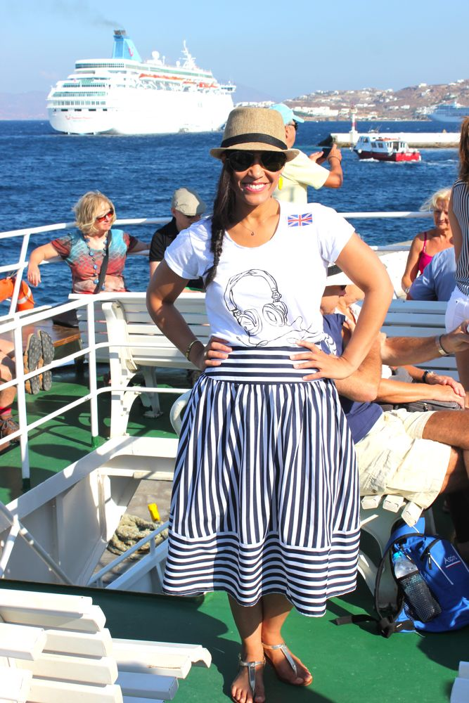 The Nautical Midi Skirt from Lulus.com