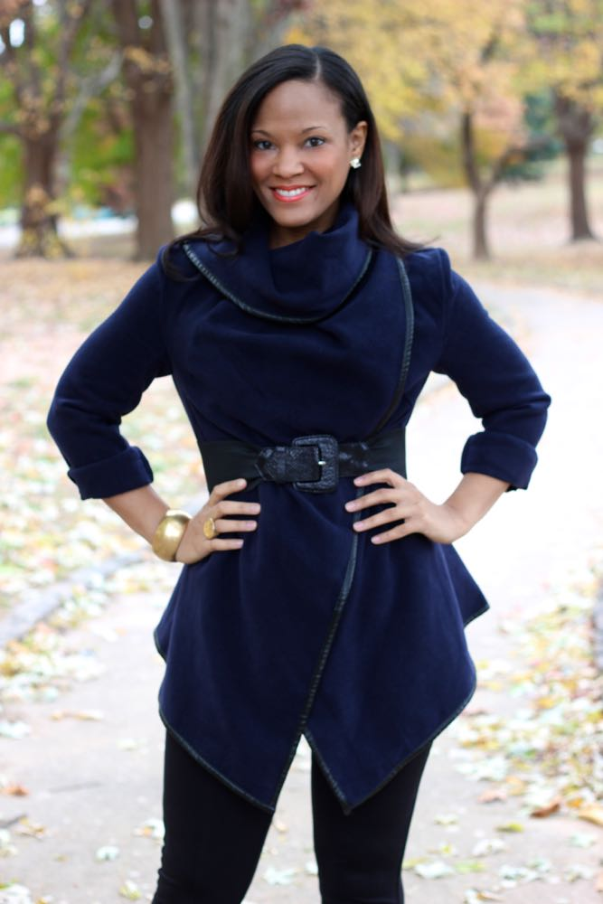 Fall Wrap Coat with Cutout Booties
