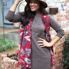 Bringing in the New Year in J. Jill's Anika Sweater Dress