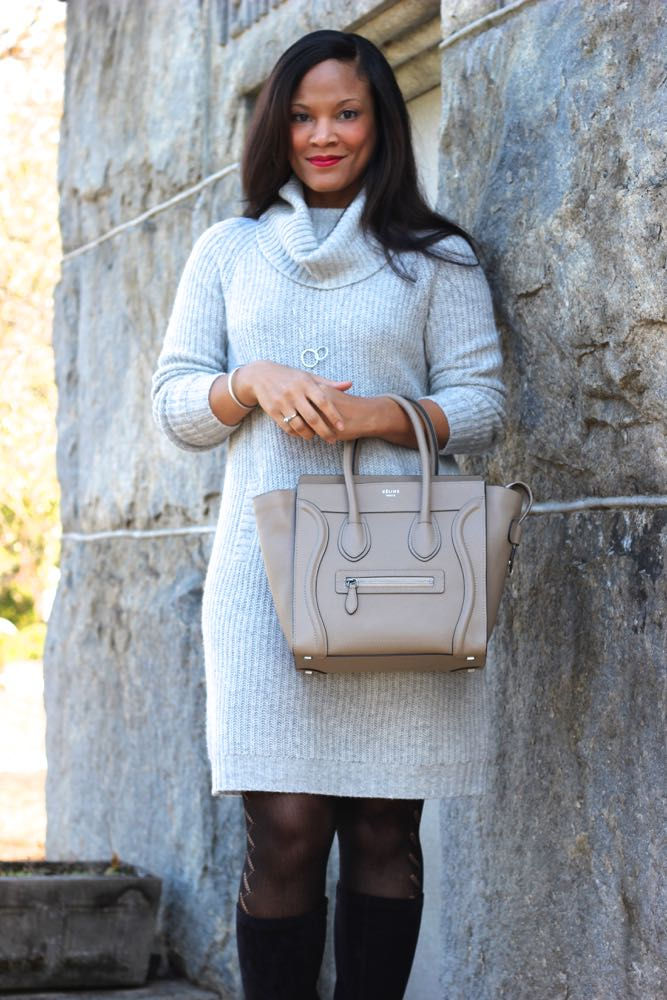 How to Style a Sweater Dress 1