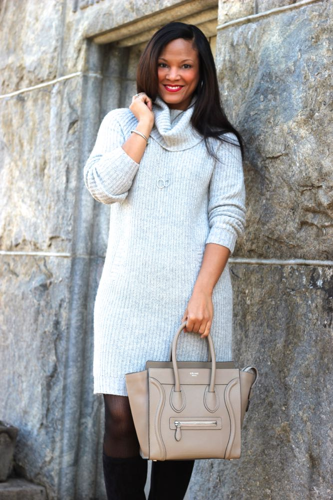 How to Style a Sweater Dress 2