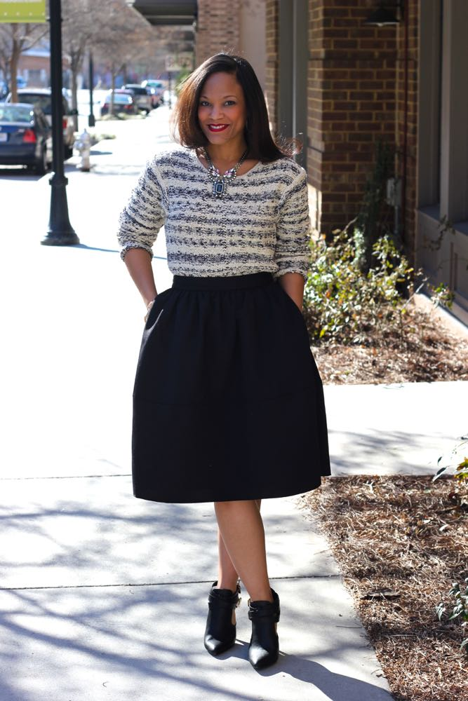 Wearing a Chunky Sweater with a Skirt 1
