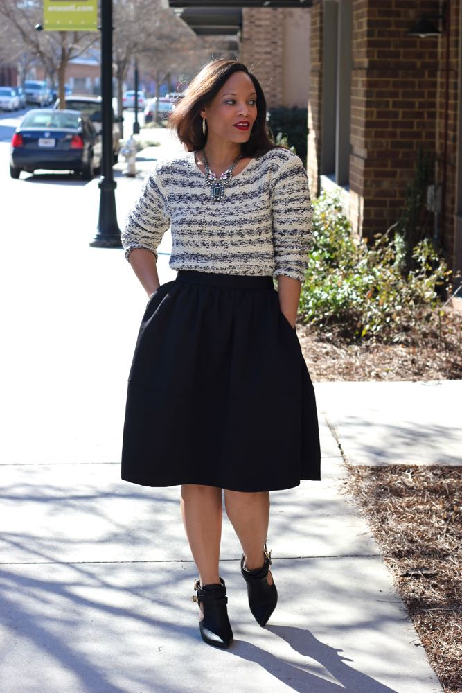 Wearing a Chunky Sweater with a Skirt 2