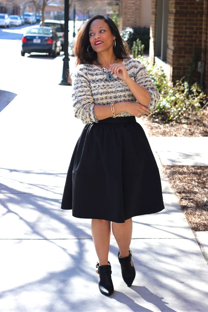 Wearing a Chunky Sweater with a Skirt 4