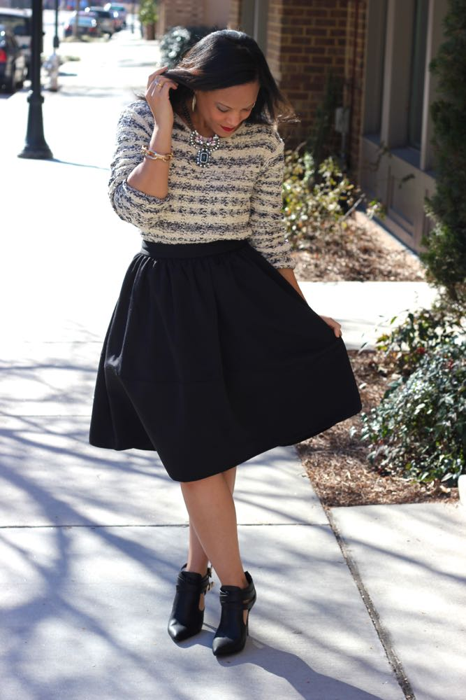Wearing a Chunky Sweater with a Skirt 5