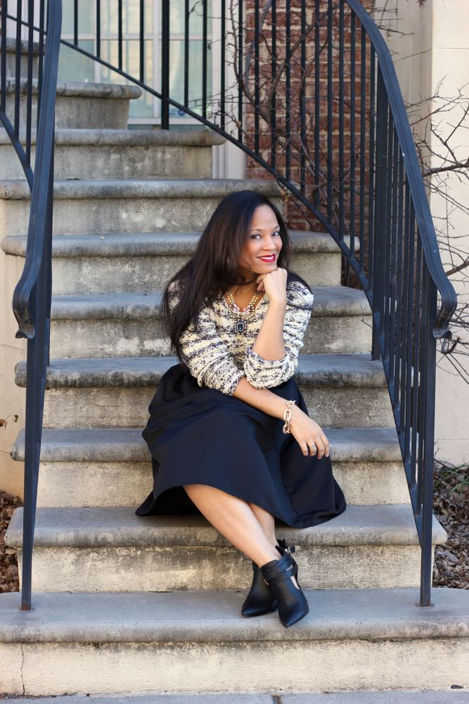 Wearing a Chunky Sweater with a Skirt – Featuring J. Jill