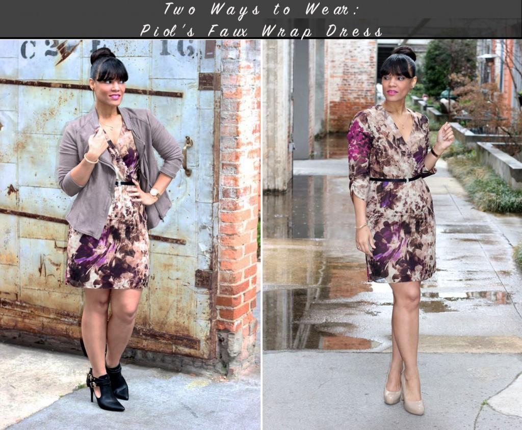 Two Ways to Wear a Faux Wrap Dress + PIOL
