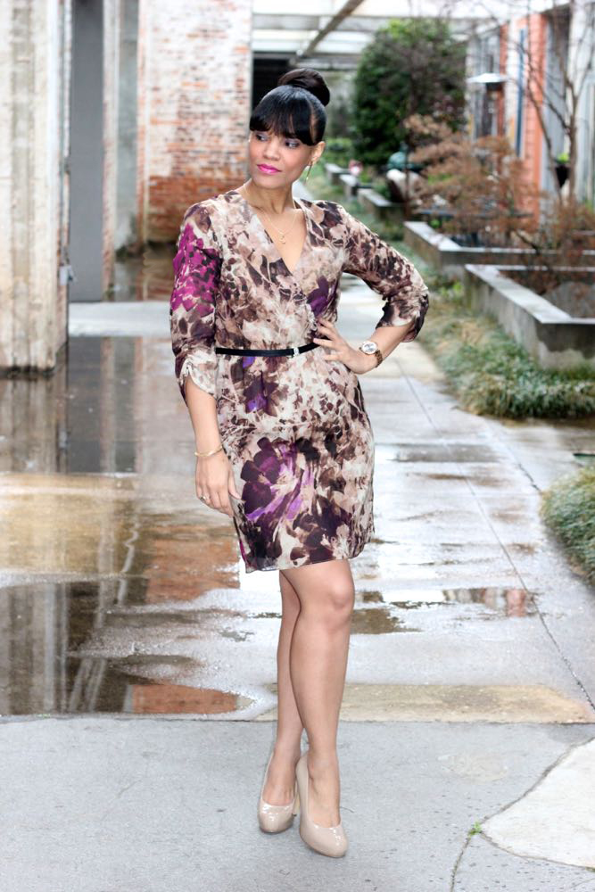 Two Ways to Wear a Faux Wrap Dress 5