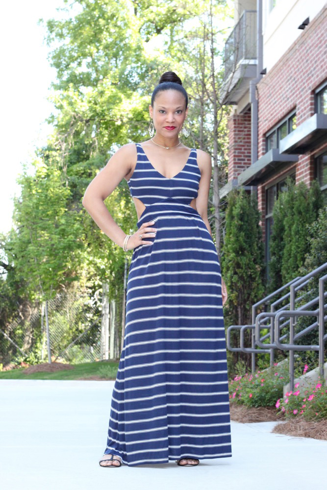 Nautical Striped Maxi Dress 5