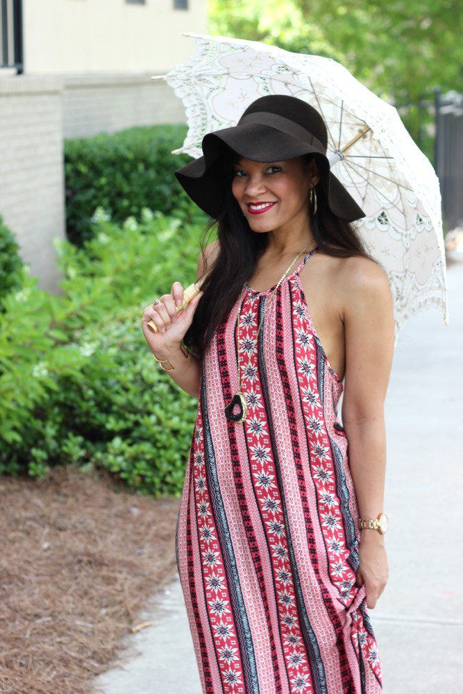 How to Wear Bohemian Halter Dresses