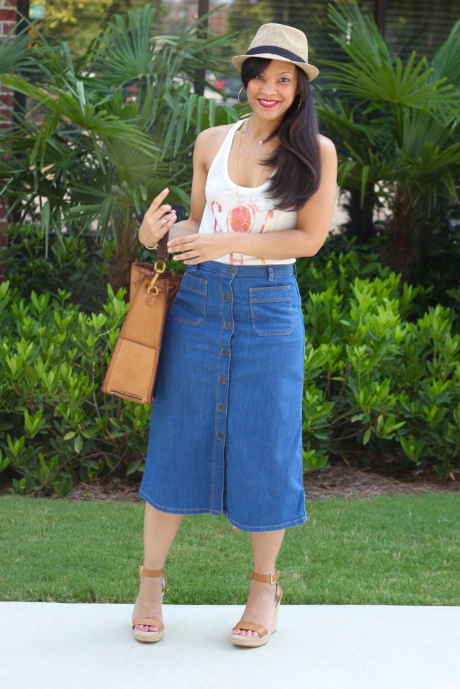 Denim Midi Skirts 3