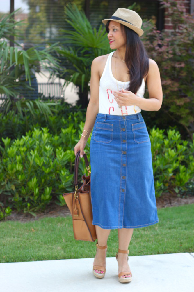 Denim Midi Skirts 4