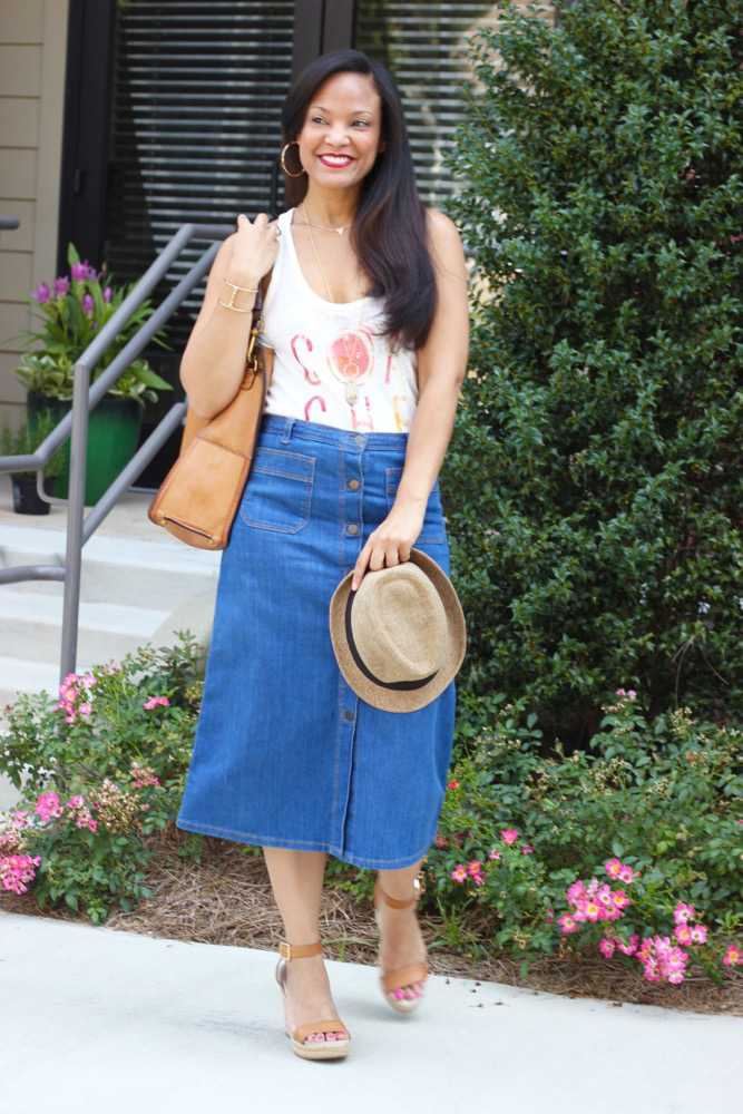Denim Midi Skirts 6