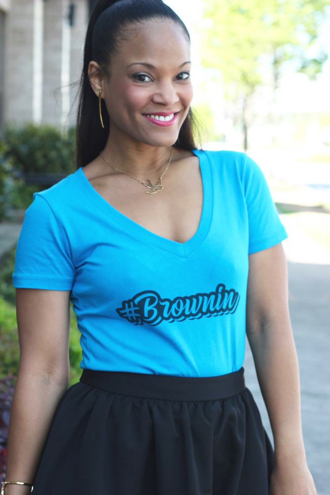 Brownin V-Neck Patois T-Shirt