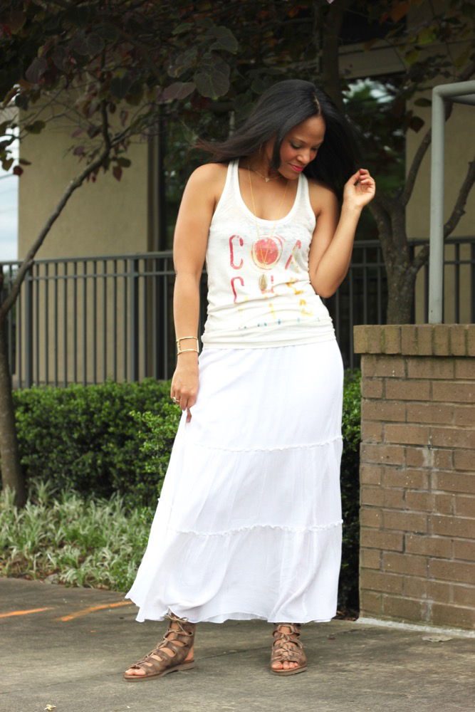 Tiered Maxi Skirts